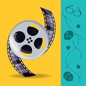 istock reel with filmstrips to cinematography production 852658164