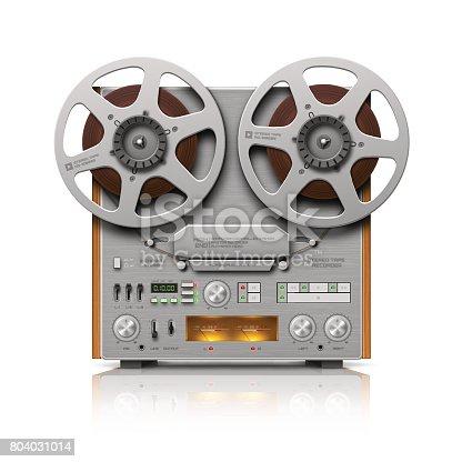 istock Reel-to-reel Audio Tape Recorder 804031014