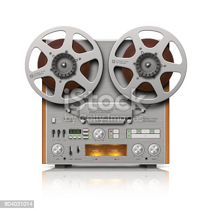 istock Reel-to-reel Audio Tape Recorder 804031014