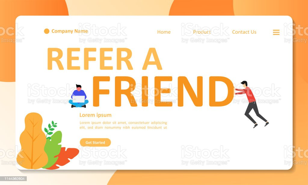 Refer A Friend Concept Design People Share Info About