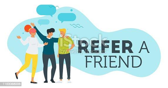 istock Refer a friend concept 1153068006