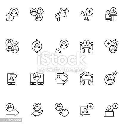 Refer a friend icon set