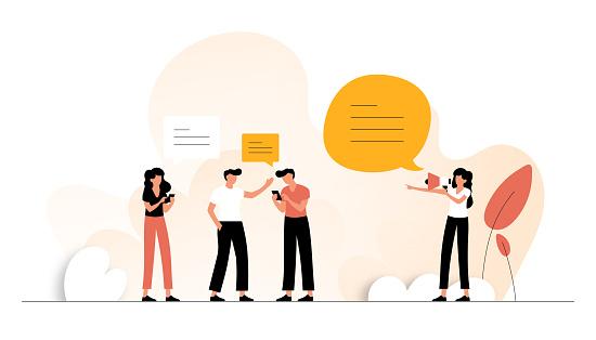 Refer Friend Concept Vector Illustration. Flat Modern Design for Web Page, Banner, Presentation etc.