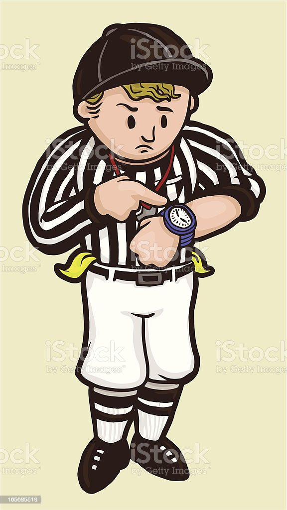 Referee Checking Watch royalty-free referee checking watch stock vector art & more images of american football - sport