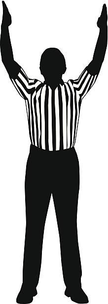 Referee Goal vector art illustration