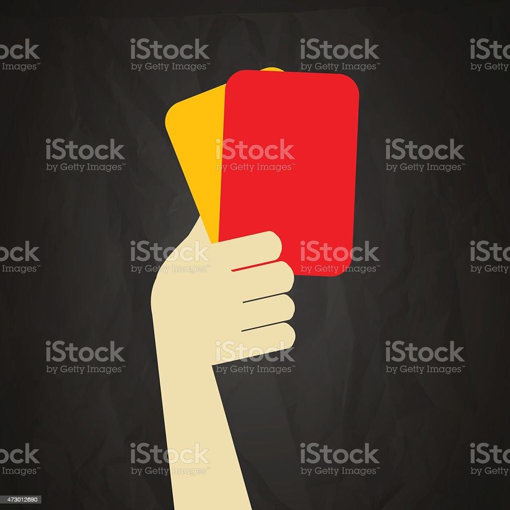 Schiedsrichter rote und gelbe Karten – Vektorgrafik