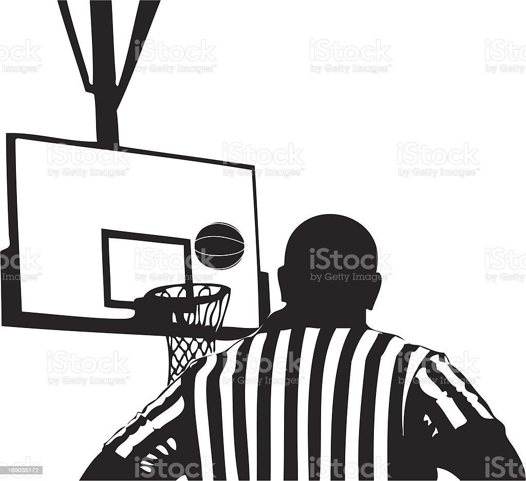 Referee vector art illustration