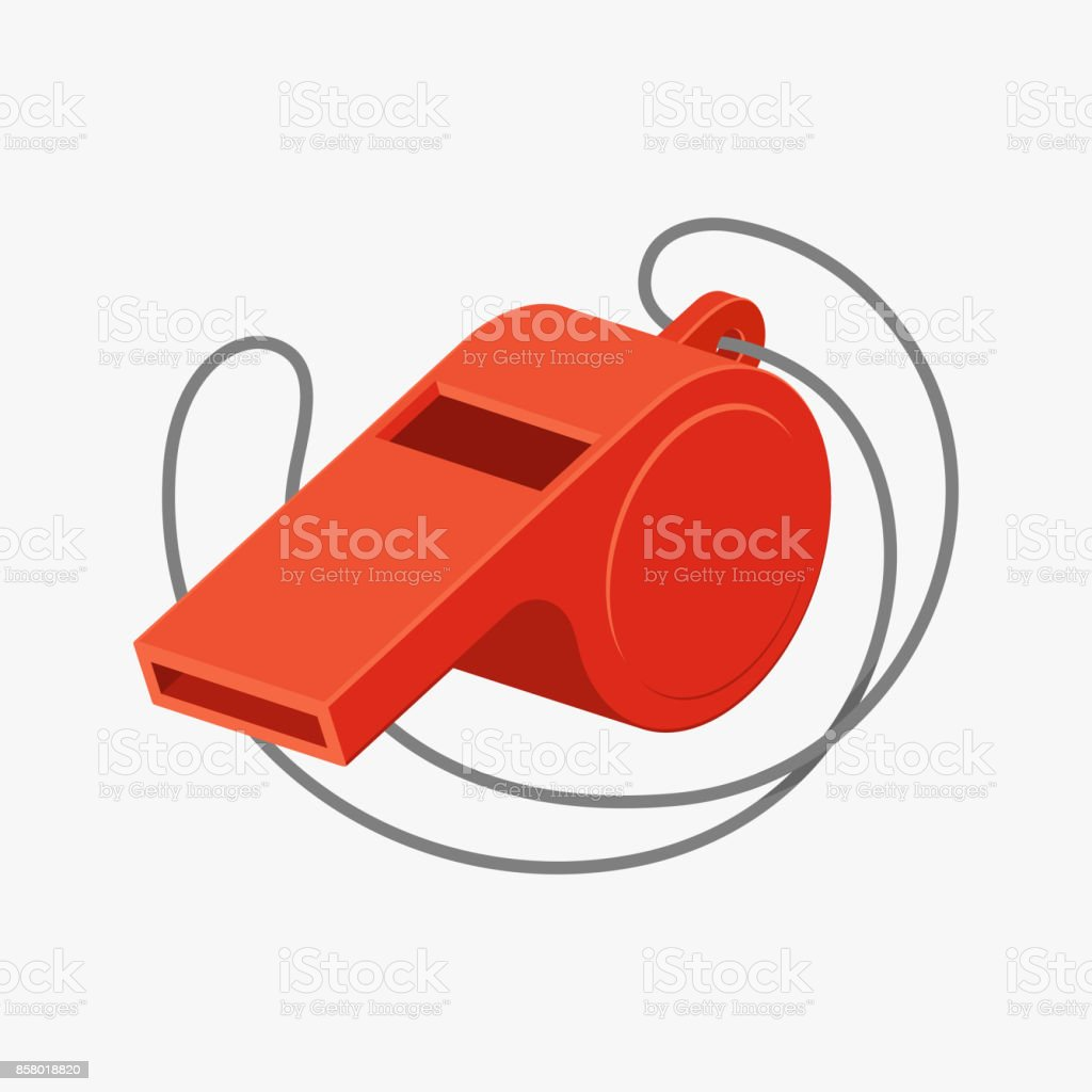 Referee whistle vector illustration royalty-free referee whistle vector illustration stock illustration - download image now