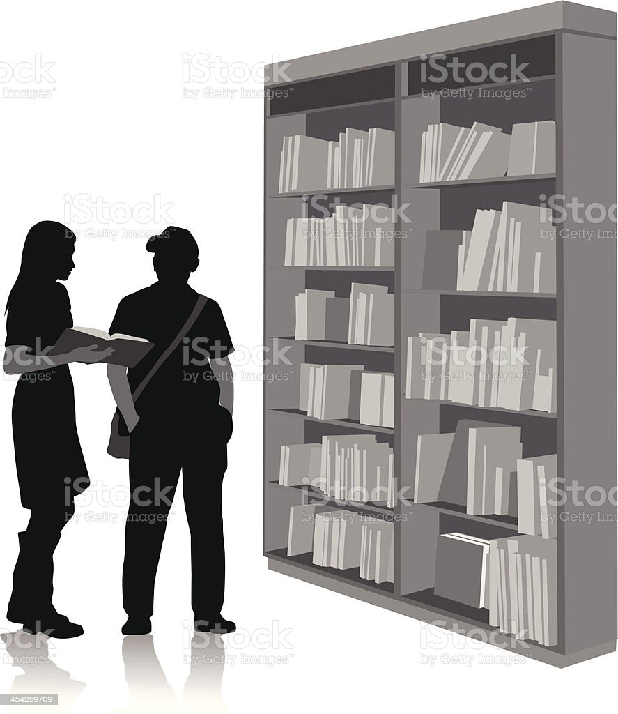 Reference Books royalty-free stock vector art