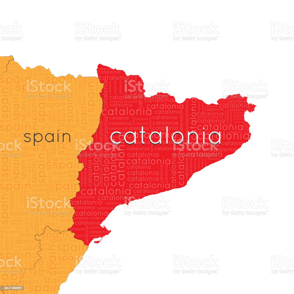 Referendum In Spain Map Of Spain Independent Catalonia A Cloud Of