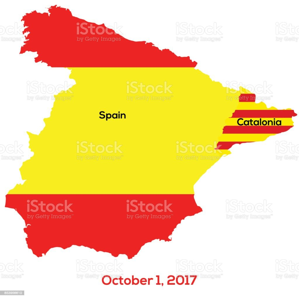 Referendum Spain - Catalonia. Vector illustration vector art illustration