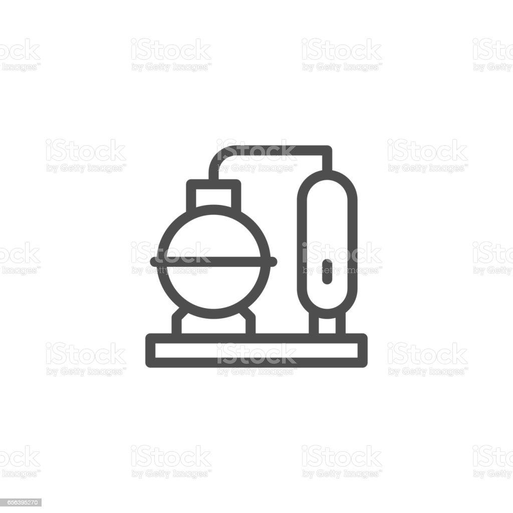 Refinery plant line icon vector art illustration