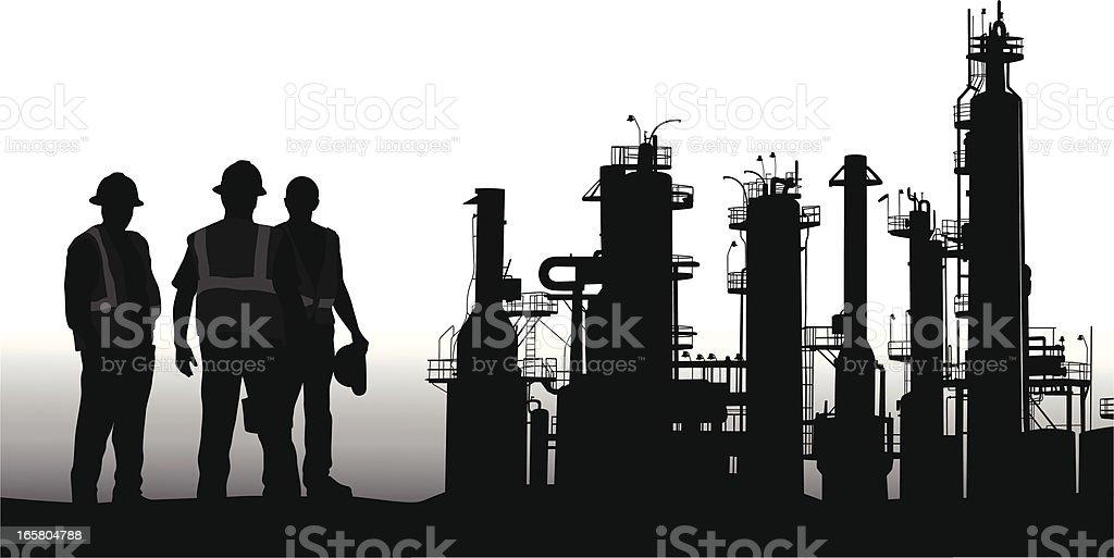 Raffinerie – Vektorgrafik