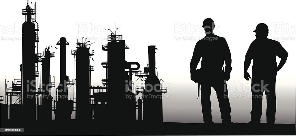 Refinery Vector Silhouette royalty-free refinery vector silhouette stock vector art & more images of adult