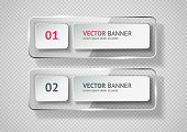 Reflecting glass banner. Gloss reflection 3d panel or clear text box banner on transparent display background vector