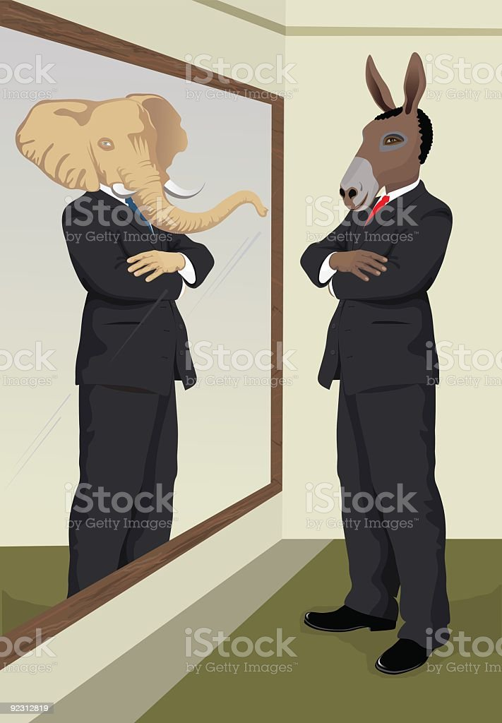 reflection in the mirror royalty-free stock vector art
