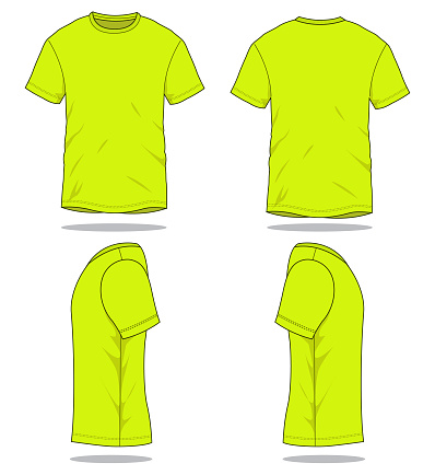 Reflective T-Shirt Vector for Template