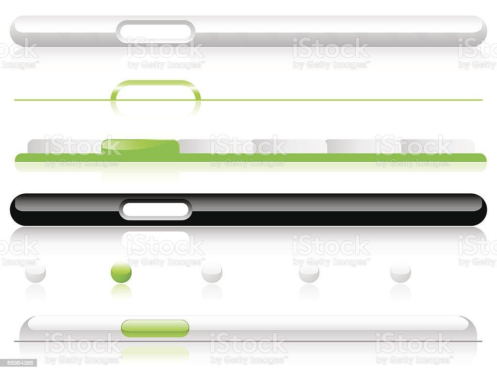 Reflective Website Navigation Templates - Editable royalty-free stock vector art