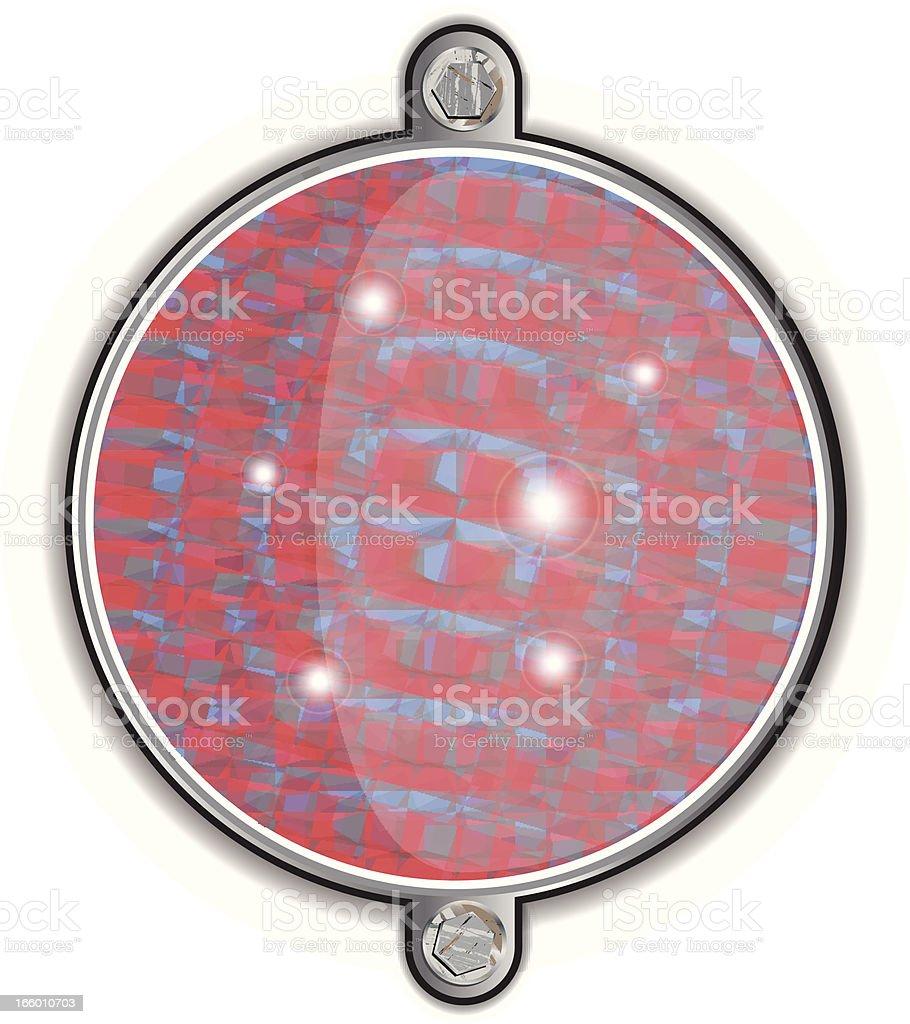 Reflector vector art illustration