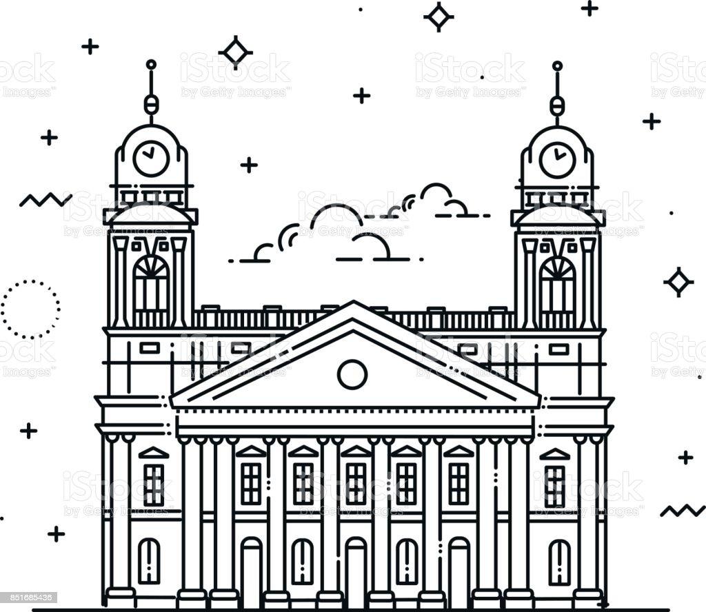 Große reformierte von Debrecen, Ungarn – Vektorgrafik