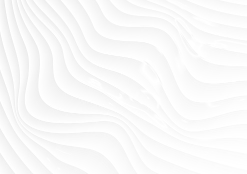 Refracted curved waves abstract white background