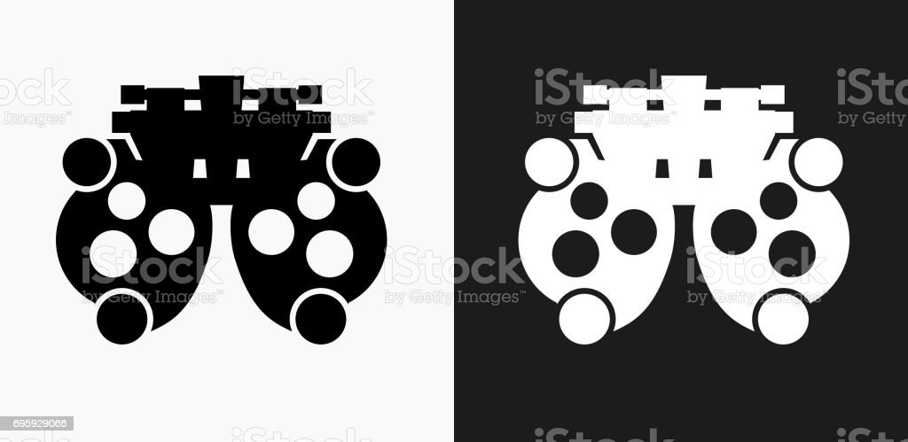 Refracting Instrument Icon on Black and White Vector Backgrounds vector art illustration