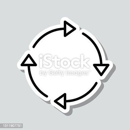 istock Refresh. Icon sticker on gray background 1311907751