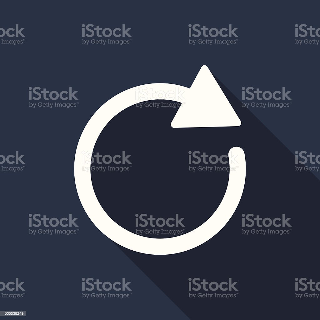 refresh icon vector art illustration