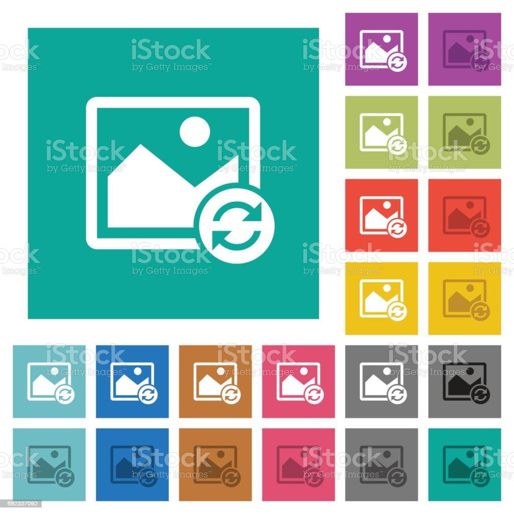 Refresh image square flat multi colored icons refresh image square flat multi colored icons - stockowe grafiki wektorowe i więcej obrazów album na zdjęcia royalty-free