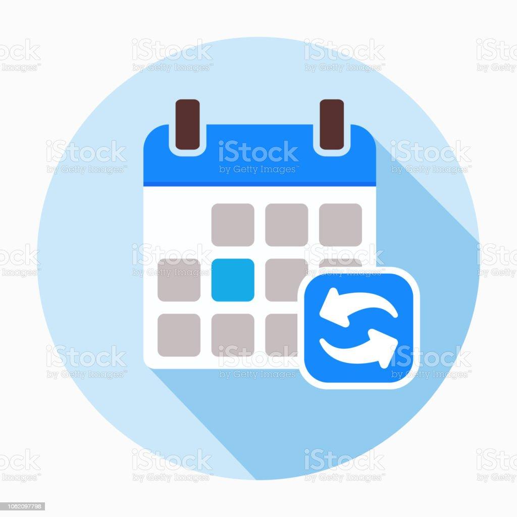 Actualizar Calendario.Ilustracion De Actualizar Actualizacion Calendario Icono
