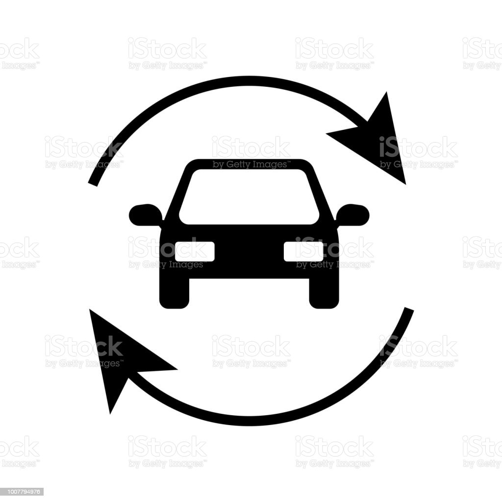 Refreshing Car Icon Vector Icon Simple Element Illustration
