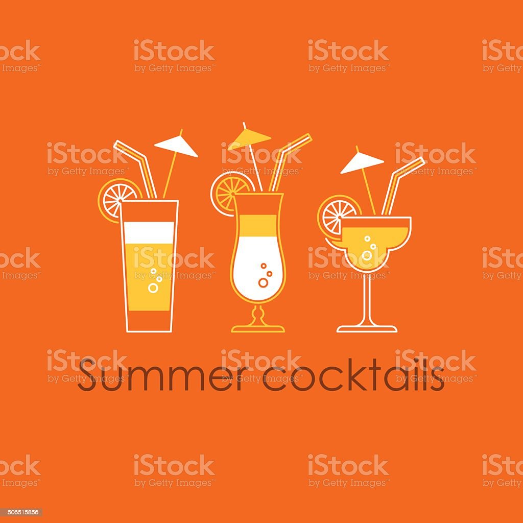 Refreshing drink vector art illustration