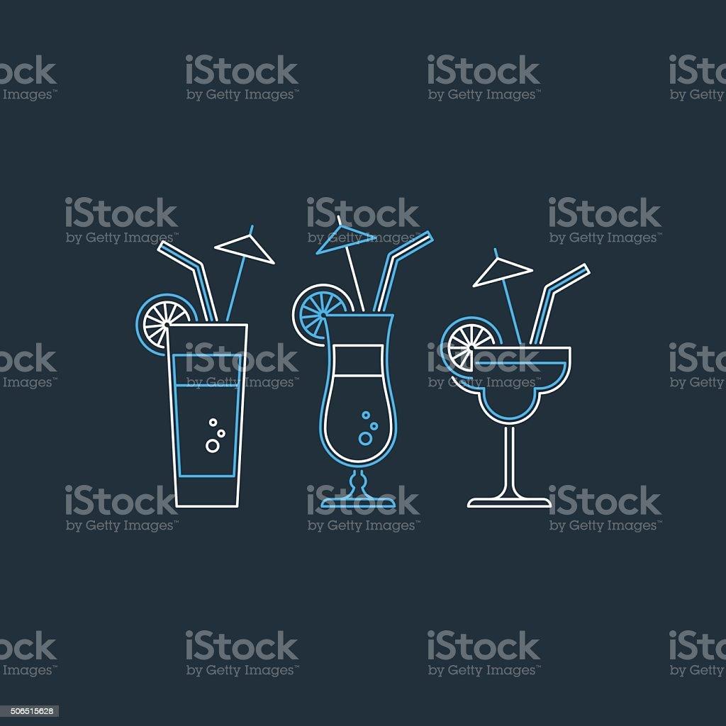 Refreshing drinks vector art illustration