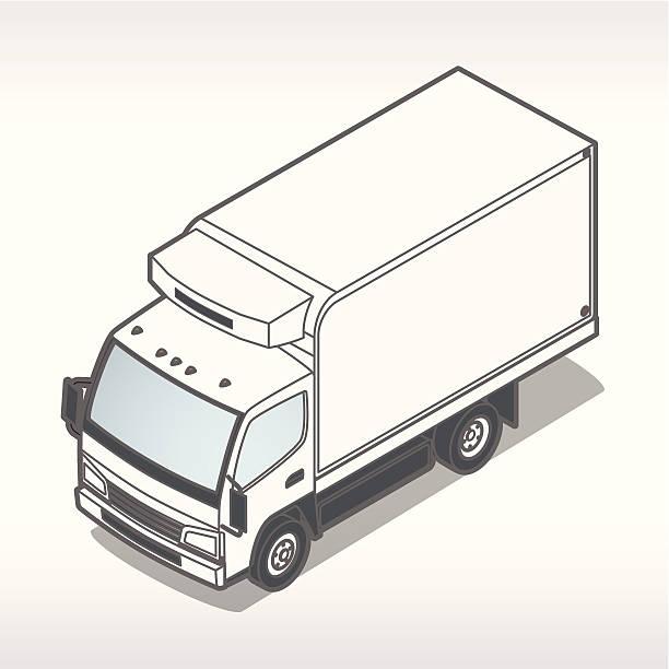 Refrigeration Truck Illustration vector art illustration