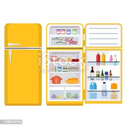 istock refrigerator full of various food 1196619704