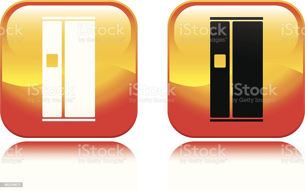 Refrigerator Icon - Royalty-free Appliance stock vector