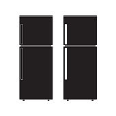 Refrigerator icon Vector Illustration. Flat Sign