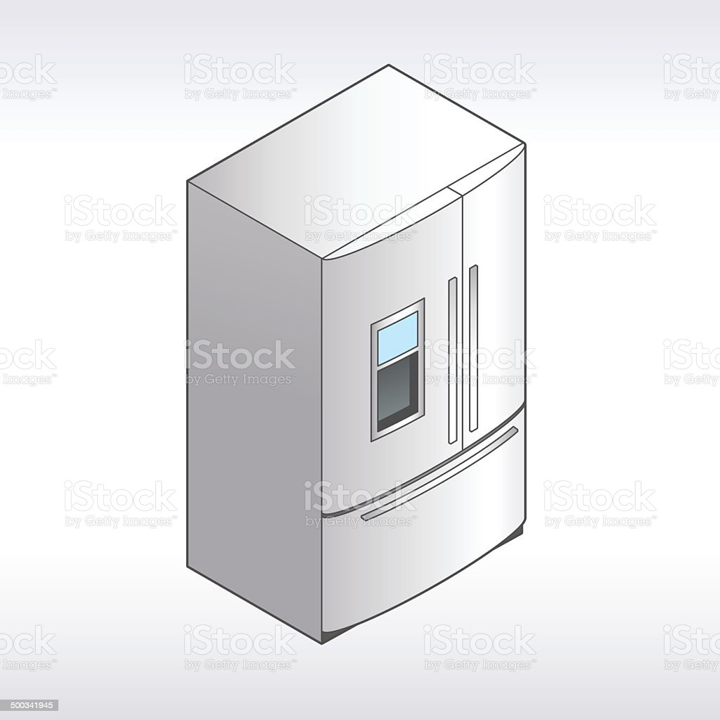 Refrigerator Illustration vector art illustration