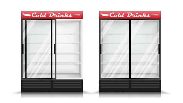 Kühlschrank Tür Vektorgrafiken und Illustrationen - iStock
