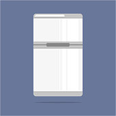 Refrigerator vector icon. Kitchen appliances.