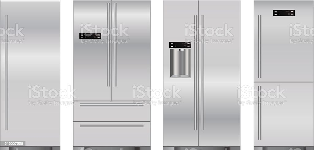 Refrigerator vector art illustration