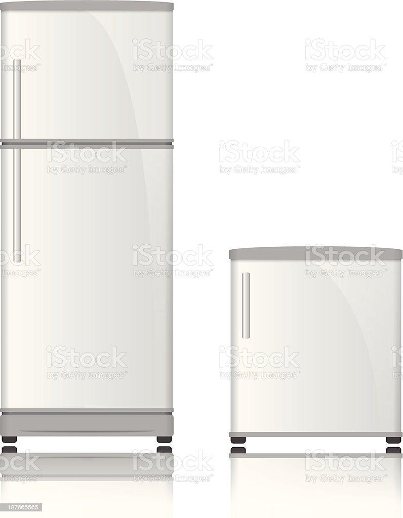 3D Refrigerator vector vector art illustration