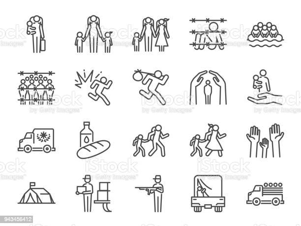 Refugee icon set included the icons as displaced person asylum vector id943456412?b=1&k=6&m=943456412&s=612x612&h=nkkdcjfhes8b xhym6oxw3ke8qn3sivn1ttju19fyfc=