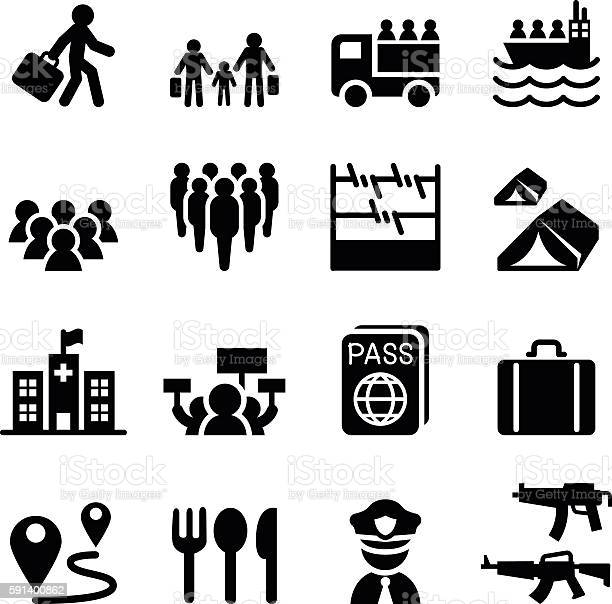 Refugee immigrants immigration icons set vector id591400862?b=1&k=6&m=591400862&s=612x612&h=dhcpoe7za0nbj4lym0kfa4xk cmbhijhewcp 4semky=