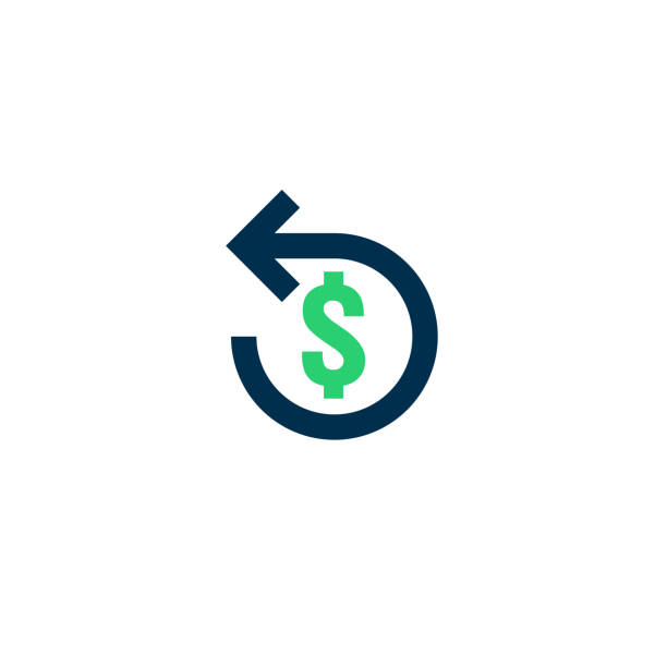 Refund money icon. Chargeback contour sign. quick fund cash back symbol. Currency exchange refinance. Return on investment. stock market business. Vector line illustration. Refund money icon. Chargeback contour sign. quick fund cash back symbol. Currency exchange refinance. Return on investment. stock market business. Vector line illustration. refund stock illustrations