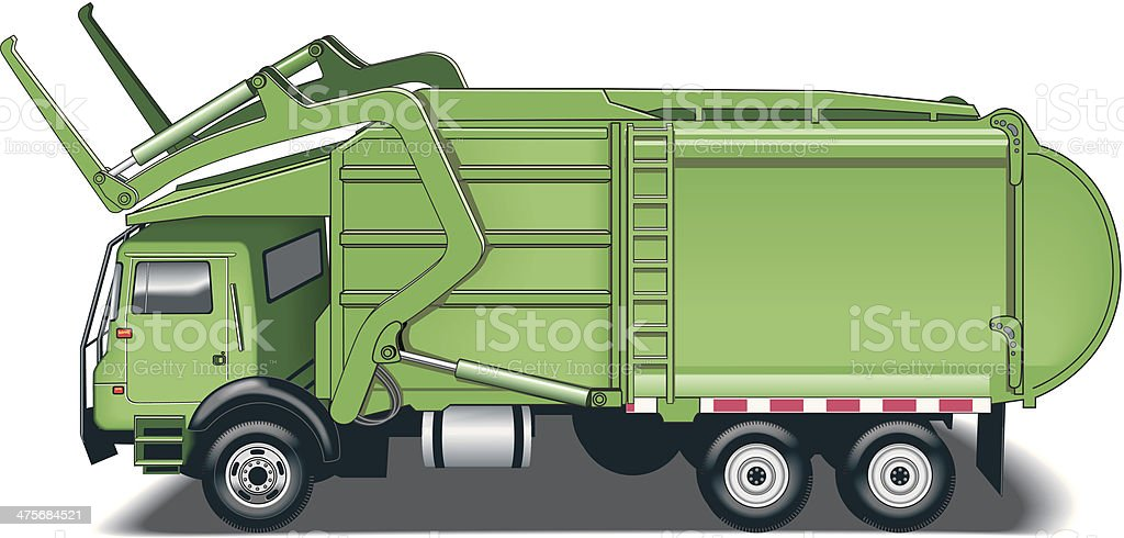 Refuse Truck C vector art illustration