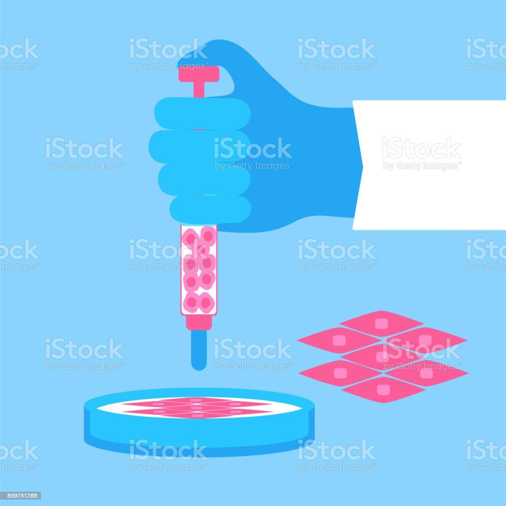 regenerative medicine concept vector art illustration