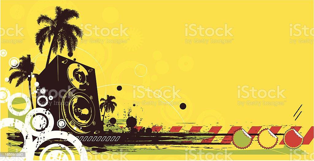 reggae background vector art illustration