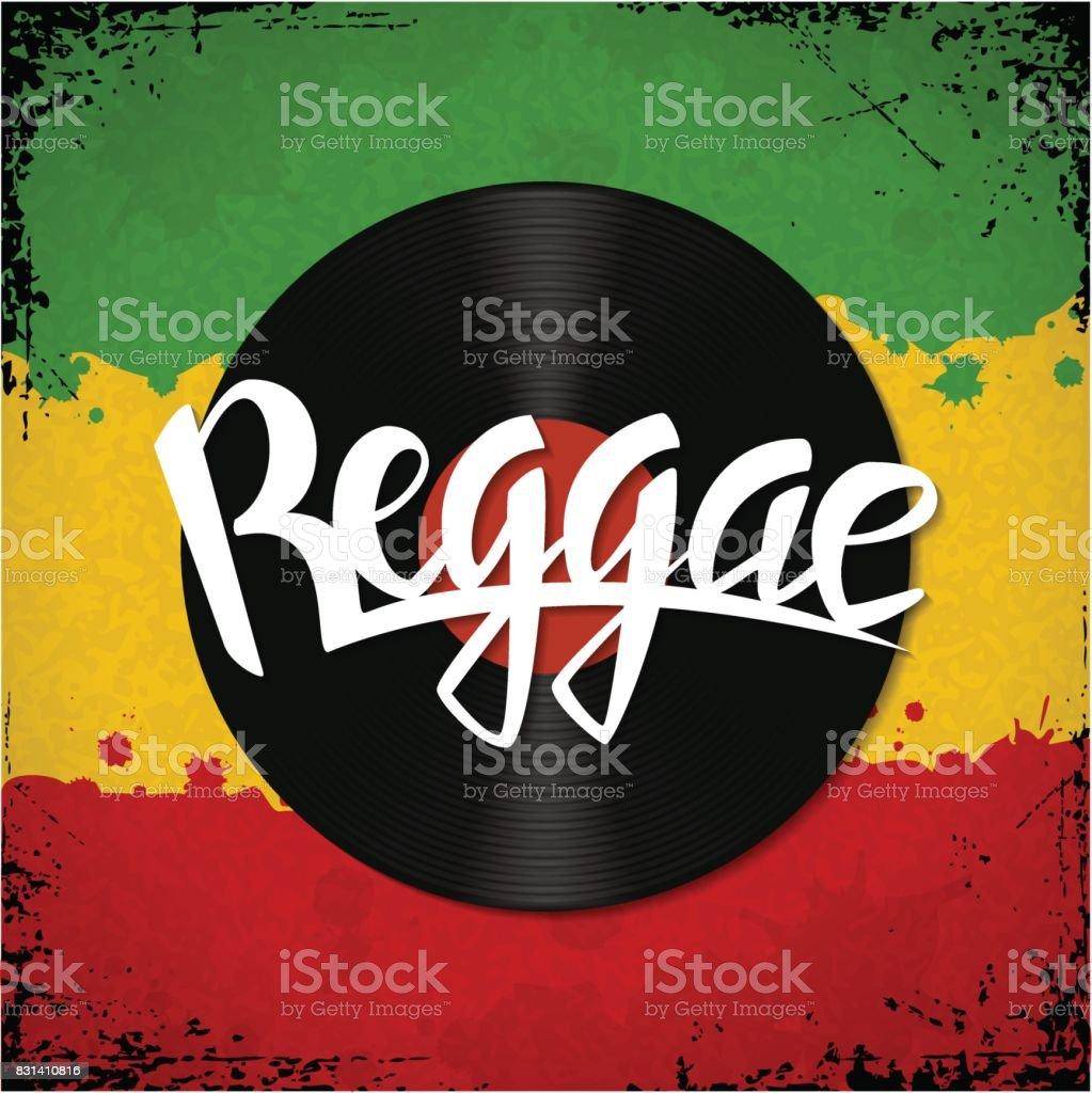 Reggae lettering poster
