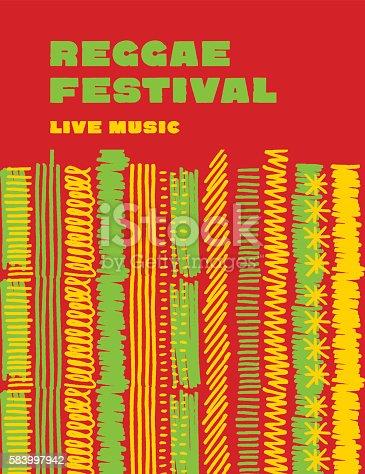 istock reggae music classic color background. 583997942